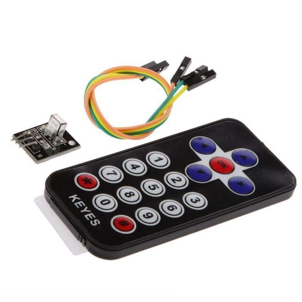 Bobury Kits del mó dulo de Control del Sensor Remoto Llaves electró nicas 2 Piezas de Infrarrojos inalá mbricos Conjunto Compatible para Arduino