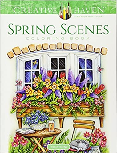 Amazon Com Creative Haven Spring Scenes Coloring Book Creative