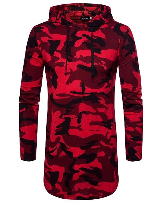 Qitun Camisetas Largo Sudadera con Capucha Slim Casual Sweatshirt Hippie Hoodie Para Hombre: Amazon.es: Ropa y accesorios
