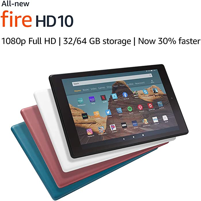 """All-New Fire HD 10 Tablet (10.1"""" 1080p full HD display, 32 GB) – White"""