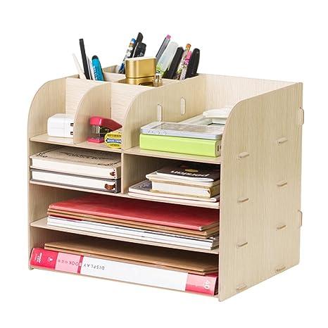 Ordinaire 4 Tier File Cabinet Detachable Wooden Grain Office Desk Organizer A4 File  Letter Storage Tray Desktop