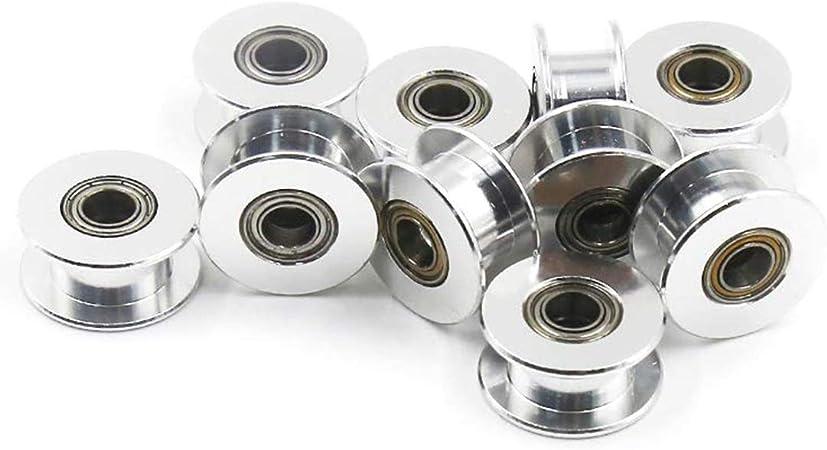 Coolfuy 4Pcs GT2 Aluminum 20 Teeth 8mm bore Timing Belt Pulley for 3D Printer CNC