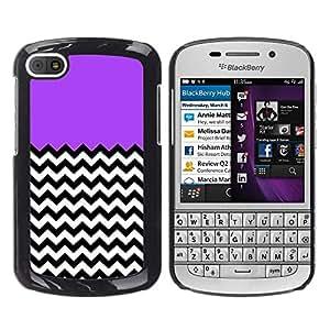 - Chevron Pattern V shapes - - Monedero pared Design Premium cuero del tir¨®n magn¨¦tico delgado del caso de la cubierta pata de ca FOR BlackBerry Q10 Funny House