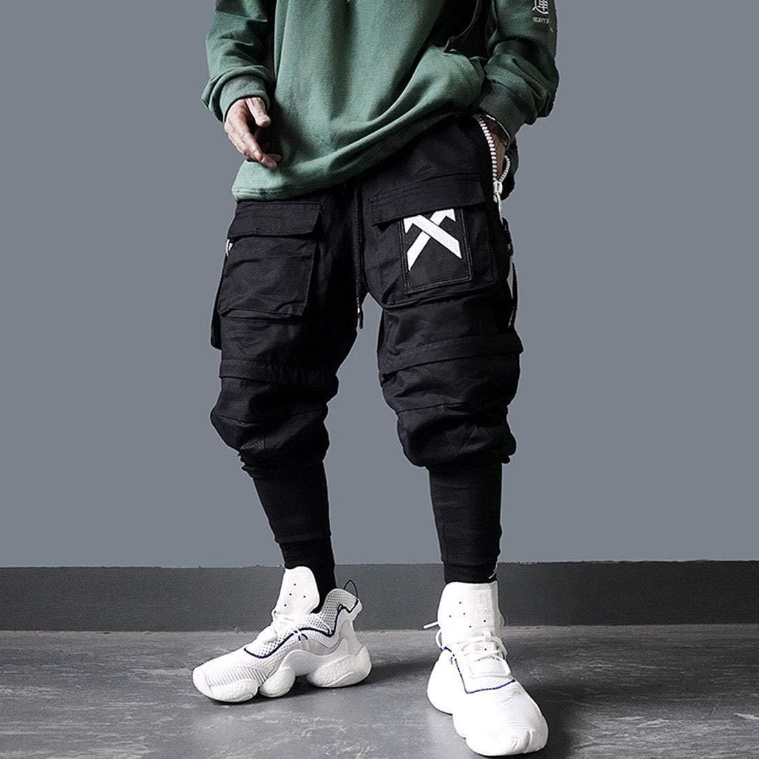 Aelfric Eden Hip-Hop Joggers Harem Pants Multi-Pocket Beam-Foot Streetwear