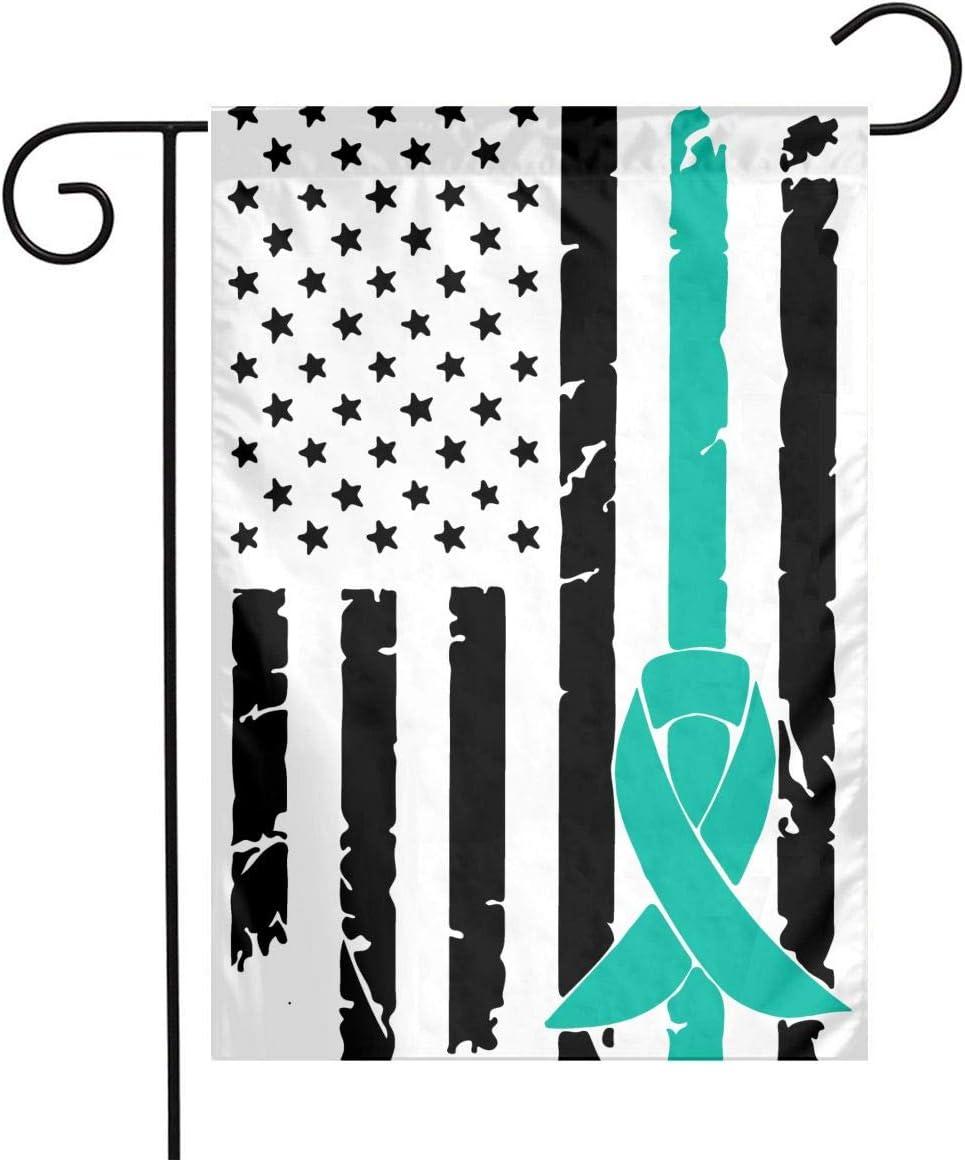 Amazon Com Fq 8flag Ovarian Cancer Awareness Usa Flag 2 Welcome Family Flag Wedding Home Garden Flag 12 X 18 Garden Outdoor