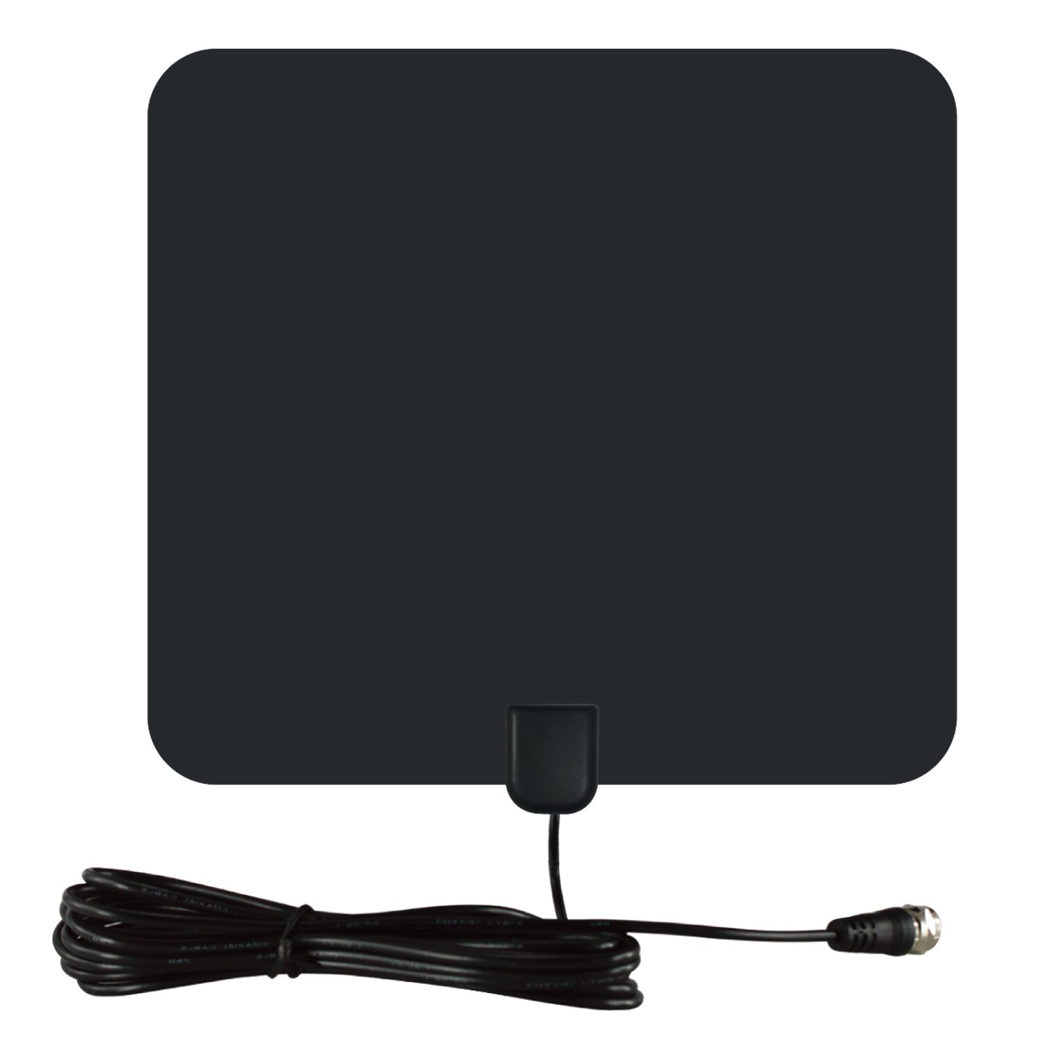 Alotm Digital Indoor TV Antenna 1080P 50 Mile Range Amplified HDTV TV HD Antenna with Detachable Amplifier Signal Booster, 13.1 ft Highest Performance Coax Cable USB Powered Amplified Antenna