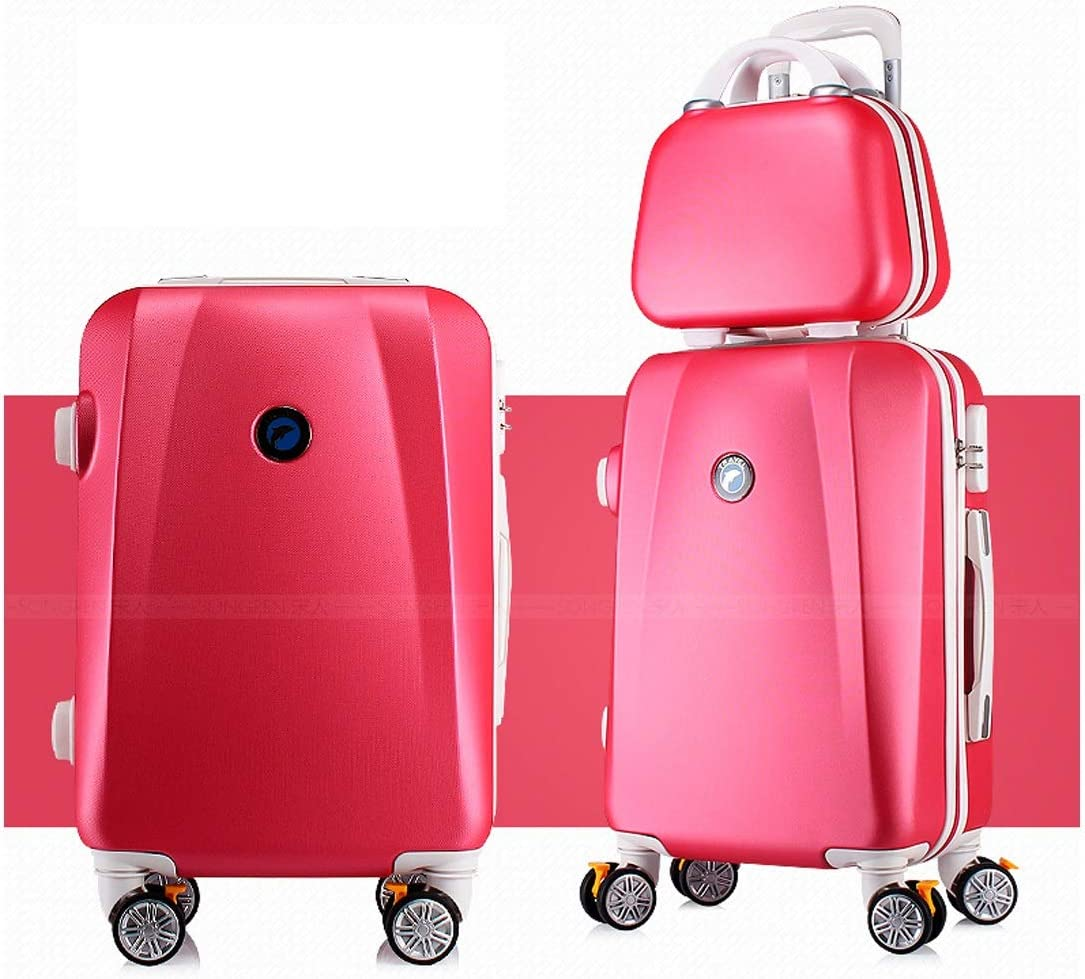 Bahaowenjuguan Hard Rotating Luggage Travel Organizer Color : Pink, Size : 32 Black 22 inches Best Gift Carrying Luggage Trolley case