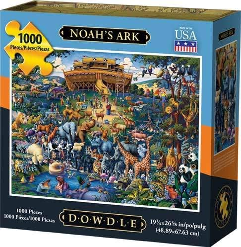MasterPieces Inspirational Jigsaw Puzzle Featuring Art by Eric Dowdle 1000 Pieces Noahs Ark