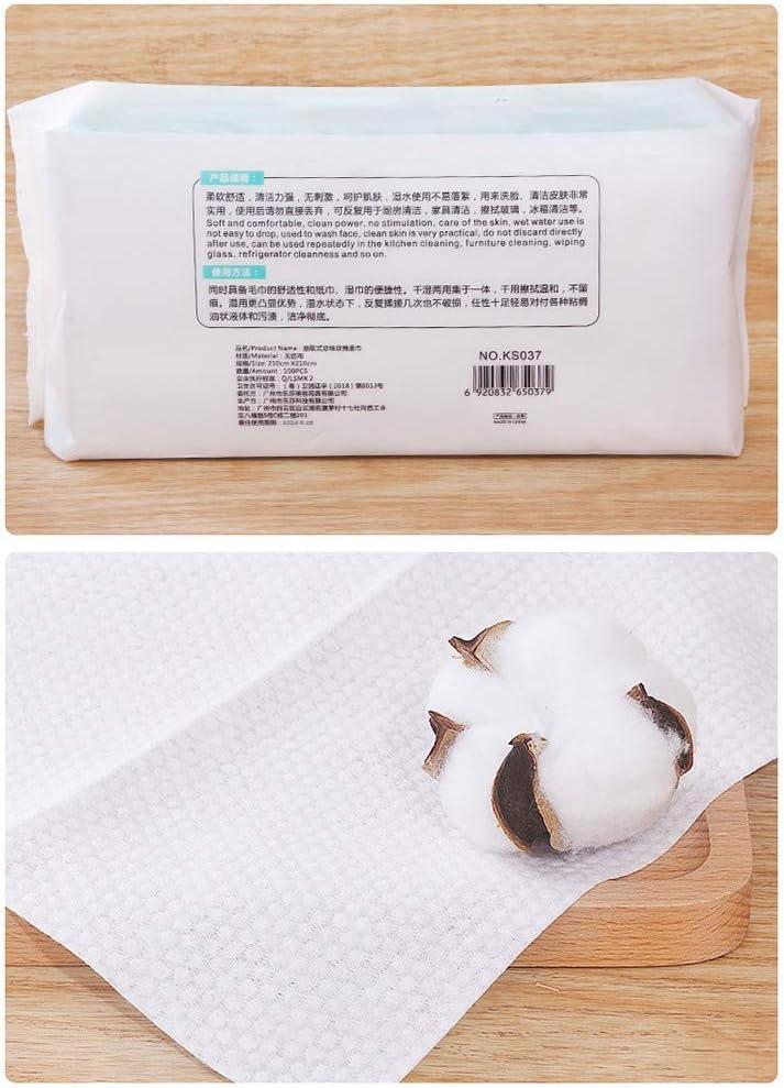 sin productos qu/ímicos limpieza de pacientes y limpieza de PET para cuidado de beb/és De algod/ón puro Dry Wipes eliminar el maquillaje Nappy Liner 100 pa/ños.