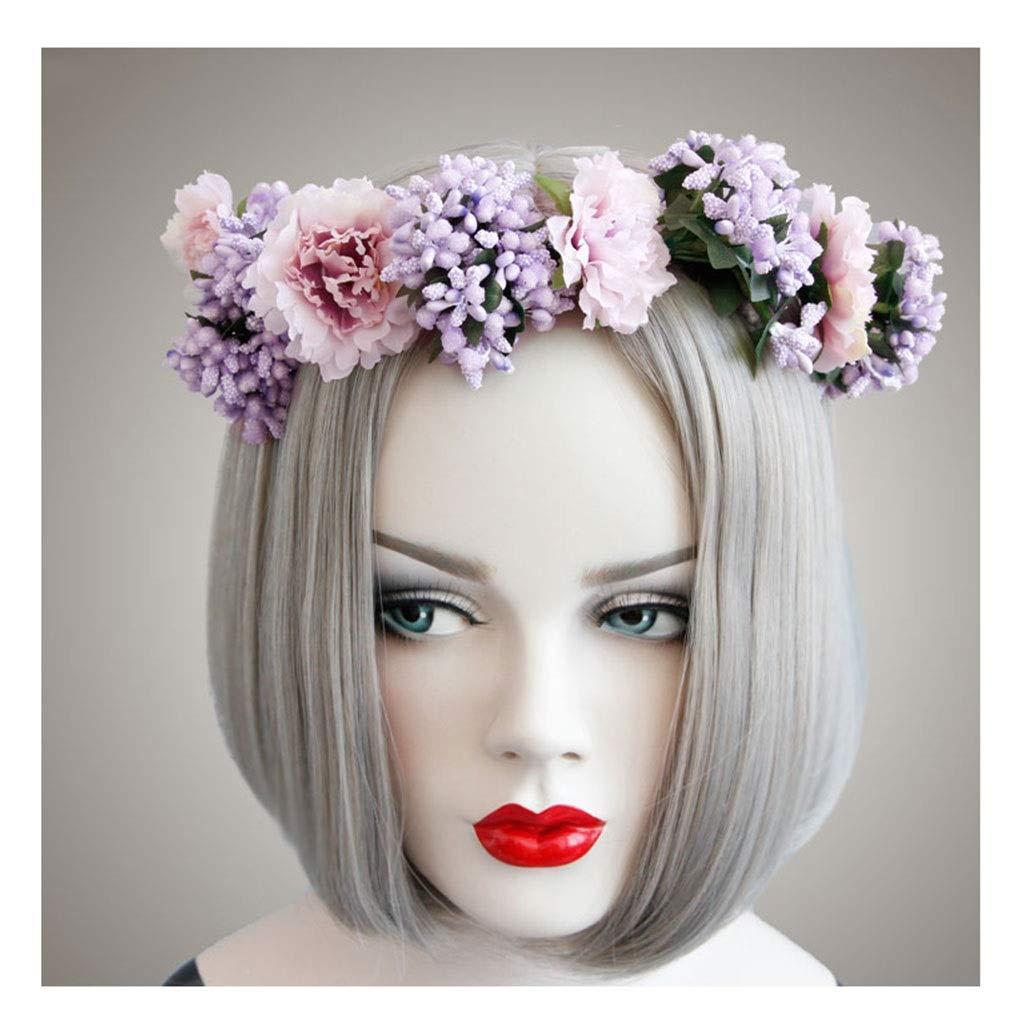 Wreath Flower Hair Band Bride Wedding Photography Headdress Children Adult Universal Hair Accessories by Wreath