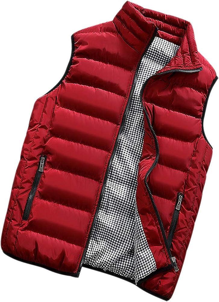 Gilet da Lavoro Giubbotto Imbottito Impermeabile Giacche Caldo Cappotto Sportivo Autunno ZEVONDA Giubbino Smanicato Uomo Inverno