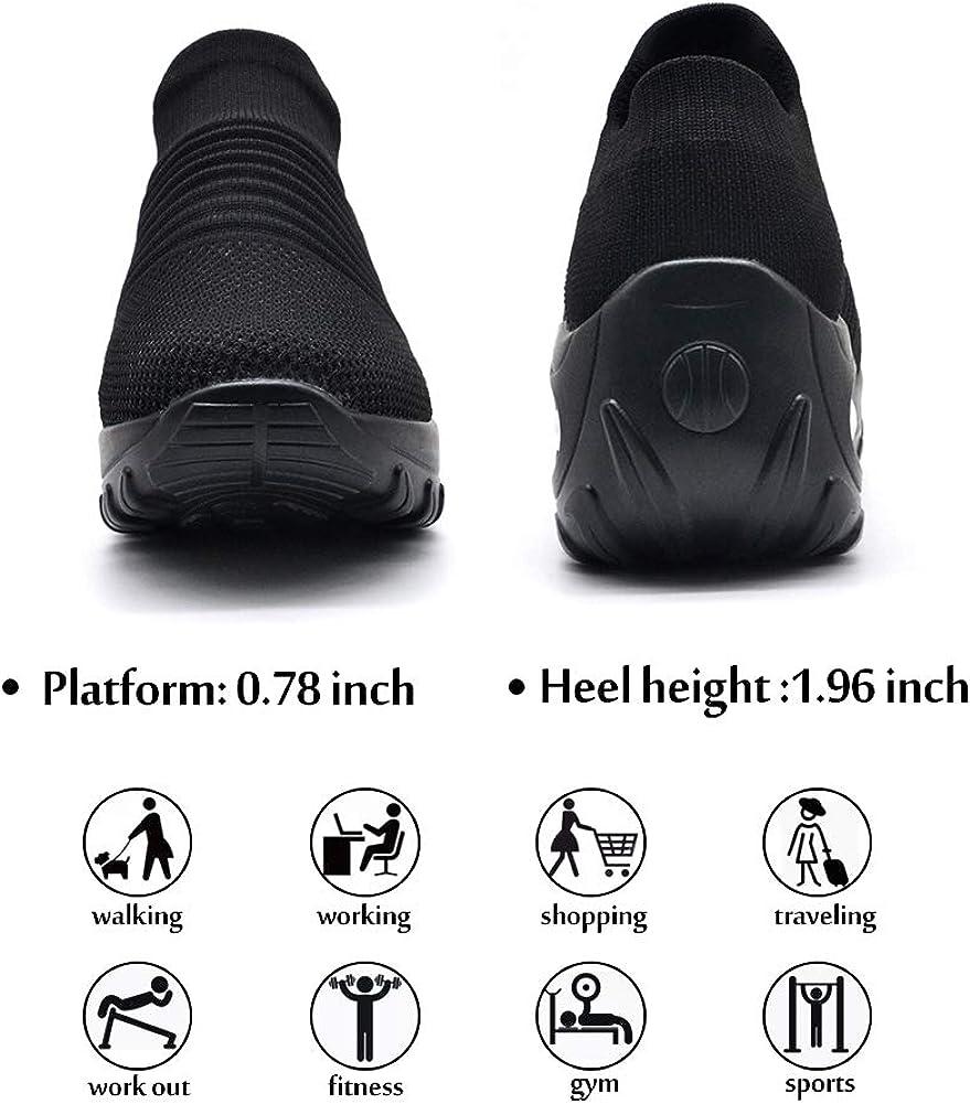de malla ligera c/ómodas con plataforma transpirables STQ Zapatillas de senderismo para mujer
