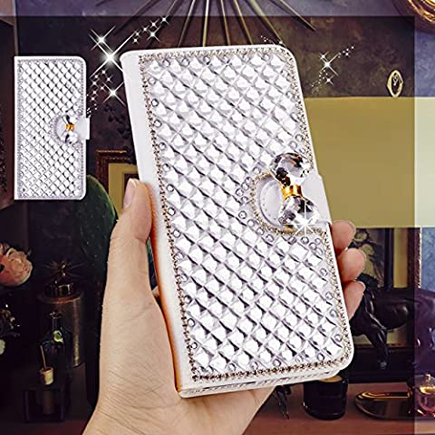 iPhone SE Case, iPhone 5S Case, iPhone 5 Case, BOTXHN 100% Handmade Bling Rhinestone Leather Wallet Case Flip Glitter Sparkle Case Cover with Card Holders, Magnetic Closure For Apple iPhone (Flip Cover Iphone 5 Bling)