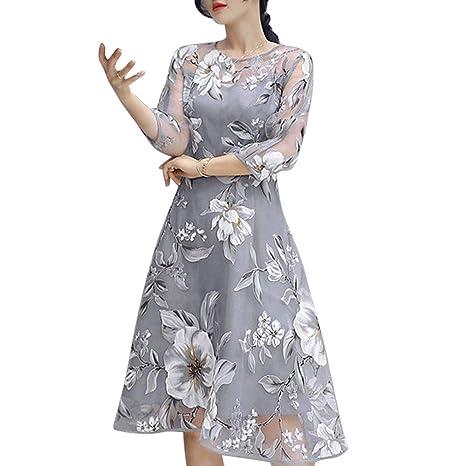 be90f11dcc09 Beach Dress for Women, Sale 2019 New Casual Girls Evening Dresses Women's  Summer Organza Floral