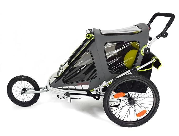 Qeridoo speedkid 2 QL - verde remolque de bicicleta para los niños de 1 - 2: Amazon.es: Bebé