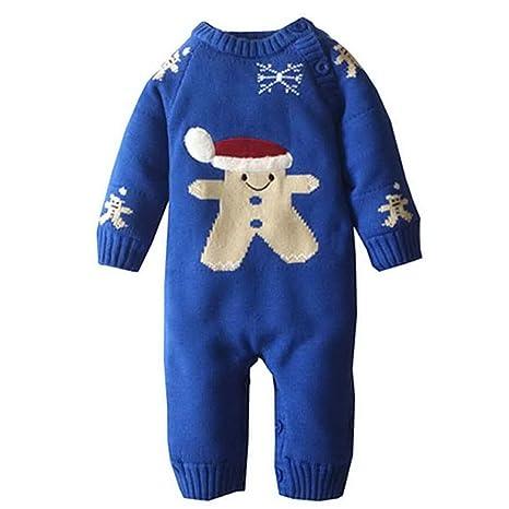 Unisex bebé Pelele de Invierno regla forro algodón de renos de Navidad muñeco de nieve Outwear