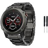 GBSELL Fashion Titanium Steel Bracelet Wrist Strap Smart Watch Band For Garmin Fenix 5X GPS