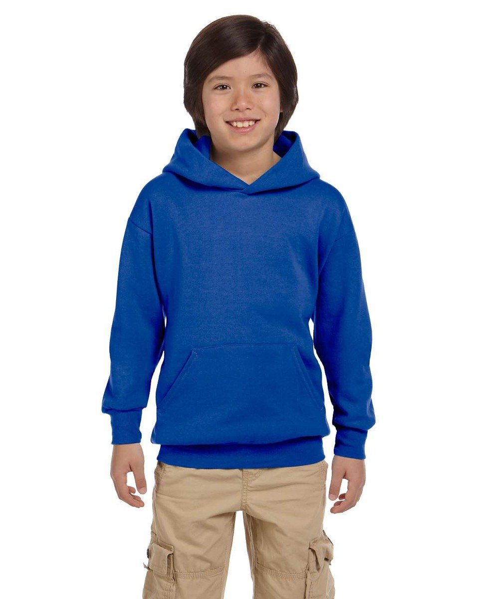 Hanes Youth ComfortBlend EcoSmart Pullover Hoodie, Ash, Size-XS P473
