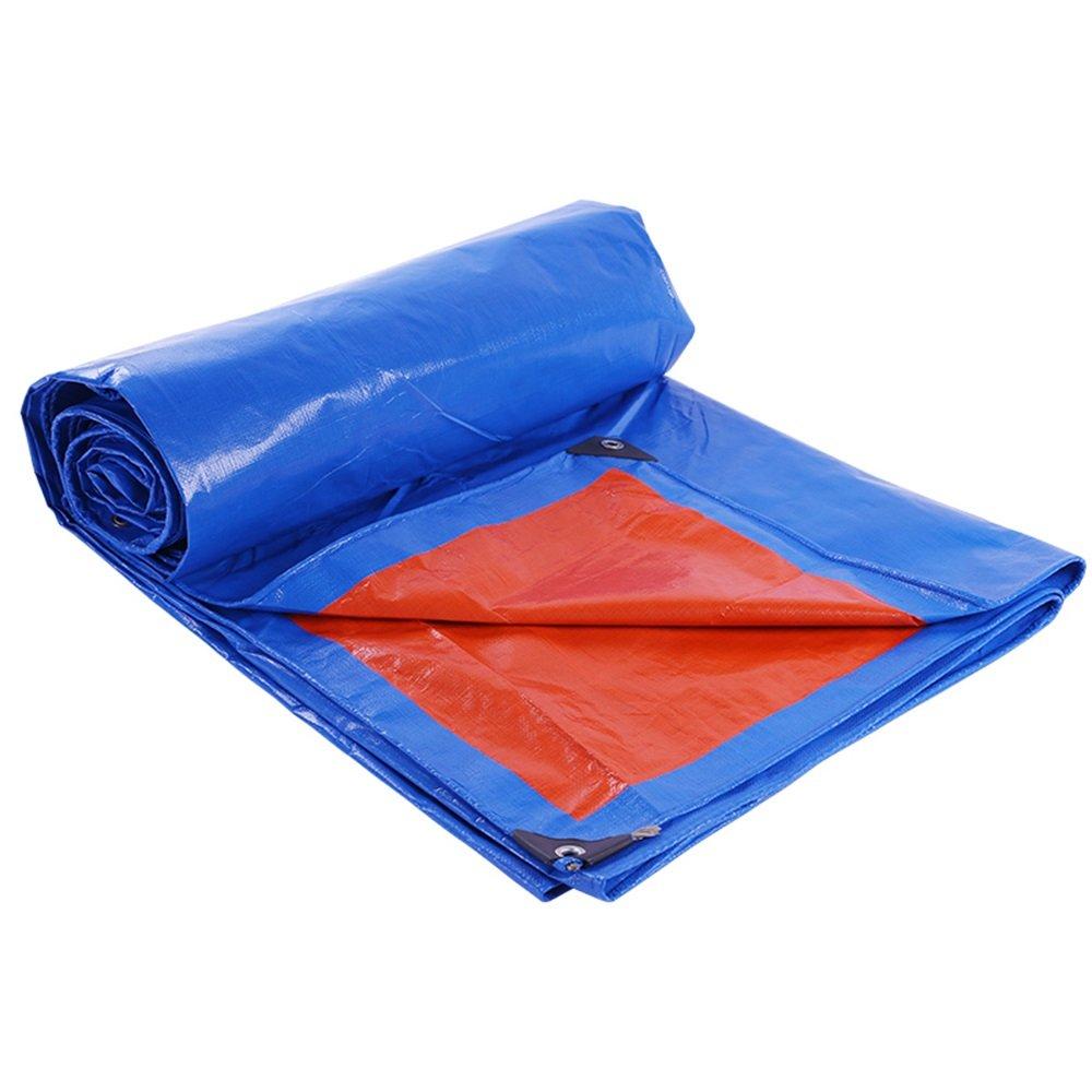 トラックの防水防水ターポリン0.23ミリメートルの厚さの三輪車のプラスチックのターポリン車の防風シート160ポンド/平方メートル(12サイズ利用可能) (色 : Blue and orange, サイズ さいず : 3 * 5m) B07FYTVPWH 3*5m Blue and orange Blue and orange 3*5m
