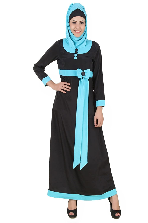 MyBatua Women's Islamic Attire Asifa Abaya with Bow