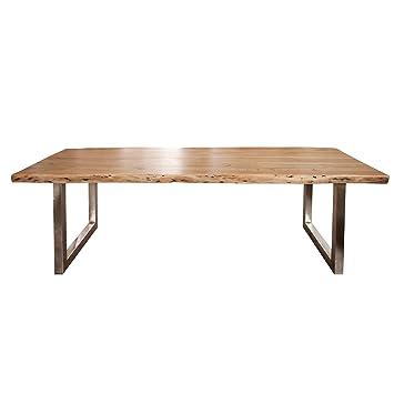 Massiver Baumstamm Tisch Mammut 300cm Akazie Massivholz Industrial