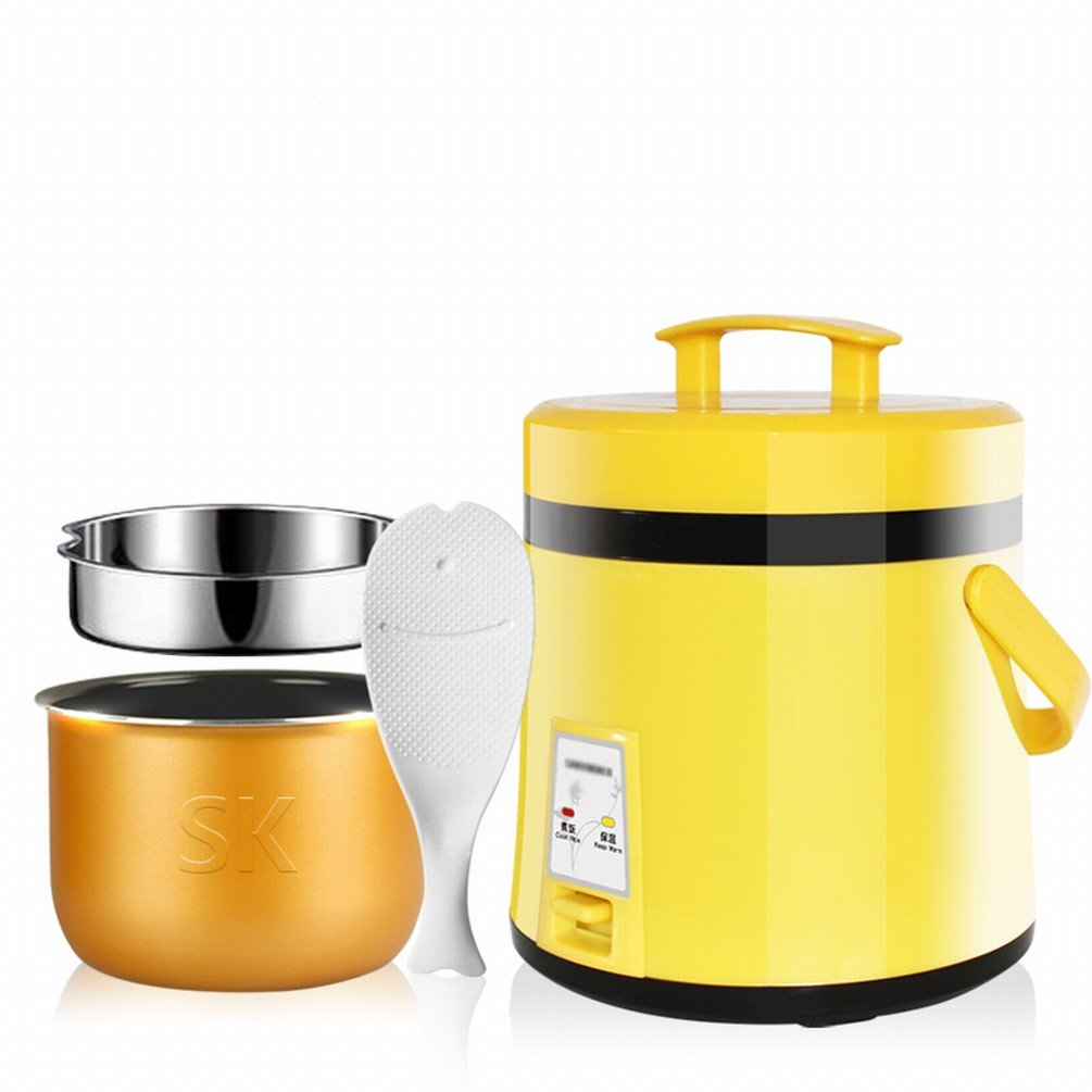 DIDIDD Mini Rice Cooker 1-2 People Home Small Rice Cooker,Yellow