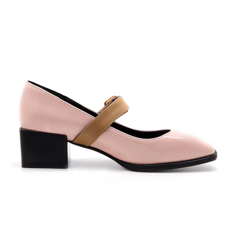 AIWEIYi Shoes Womens Low Heel Pump Shoes AIWEIYi Buckle Strap Platform Dress Shoes B01N7PER1N US 5.0=CN 34=Feet 22.0cm|Pink d6a75e