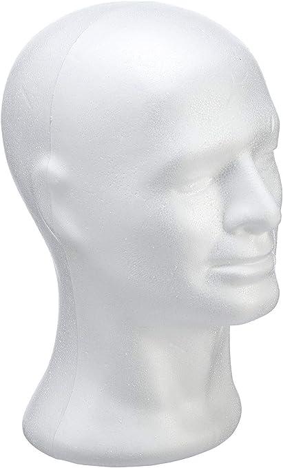 Tête en polystyrène Femme 29 cm LePolystyrène