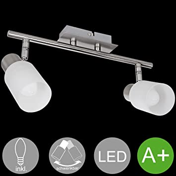 FineBuy LED Deckenlampe EEK A Lampe Warmweiß 6-flammig Drehbar Deckenstrahler
