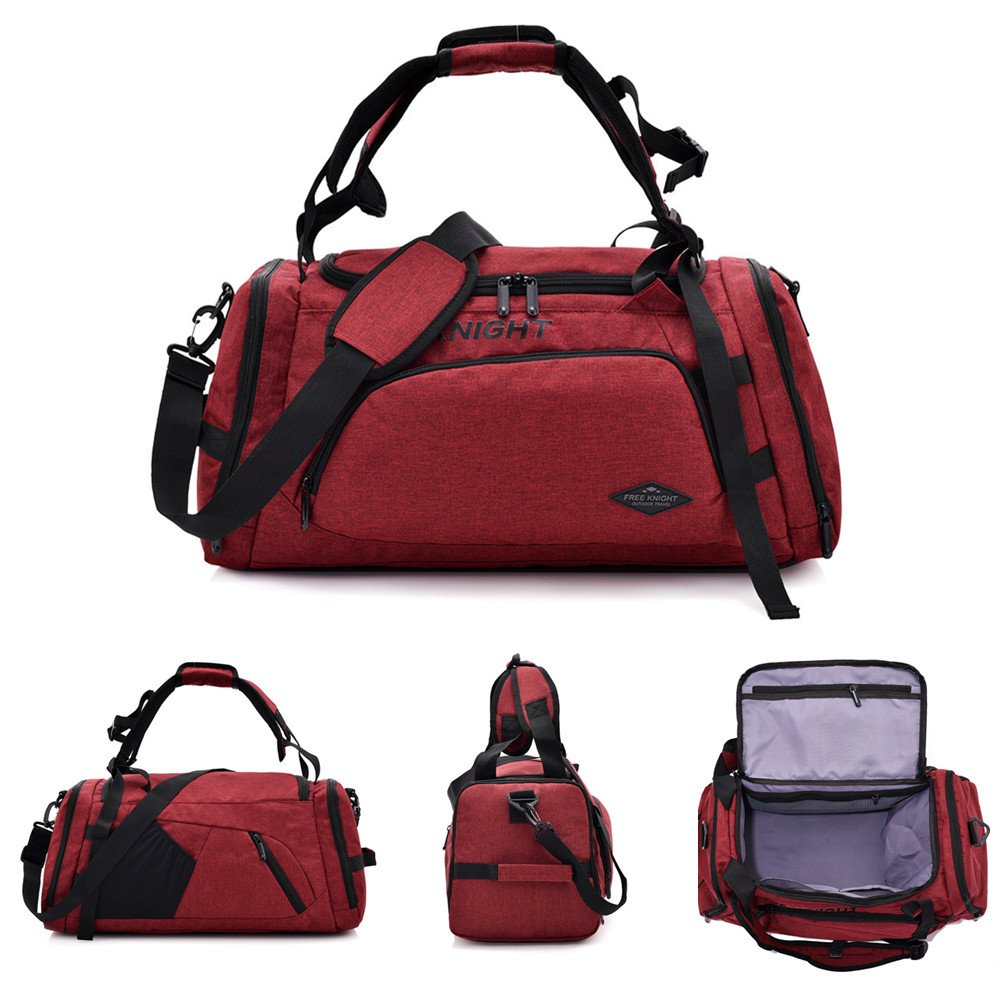 Multifunctional Outdoor Bags Large,MIYA LTD Breathable Lightweight Traveling Backpack Nylon for Climbing Hiking Camping Bag Sport Bag Waterproof Outdoor Big Handbag-Red MYCA-PA-CF-LXB0601-R