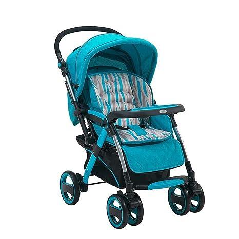El cochecito de bebé puede sentarse Horizontal plegable plegable bidireccional de 4 ruedas Amortiguador Recién nacido