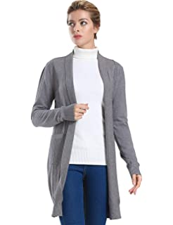 ninovino Women s Open Front Cardigan Twist Cable Knitted Long Sleeve ... 58b235758