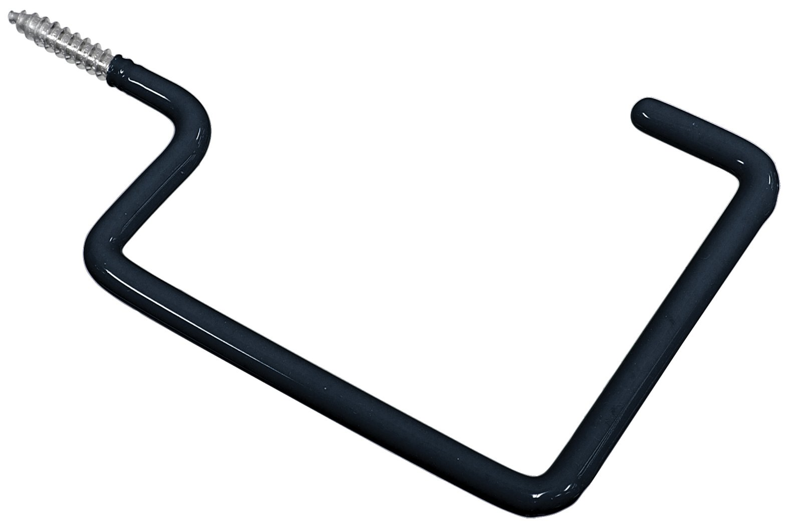 The Hillman Group 852156 Vinyl Storage Hook Black Large, 15-Pack by The Hillman Group (Image #1)