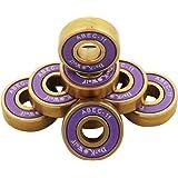 Tera® Dark Wolf スケートボード ベアリング スケボー ベアリング オイルベアリング Skateboard Bearing スケボーパーツ 8個セット 拭き布つき