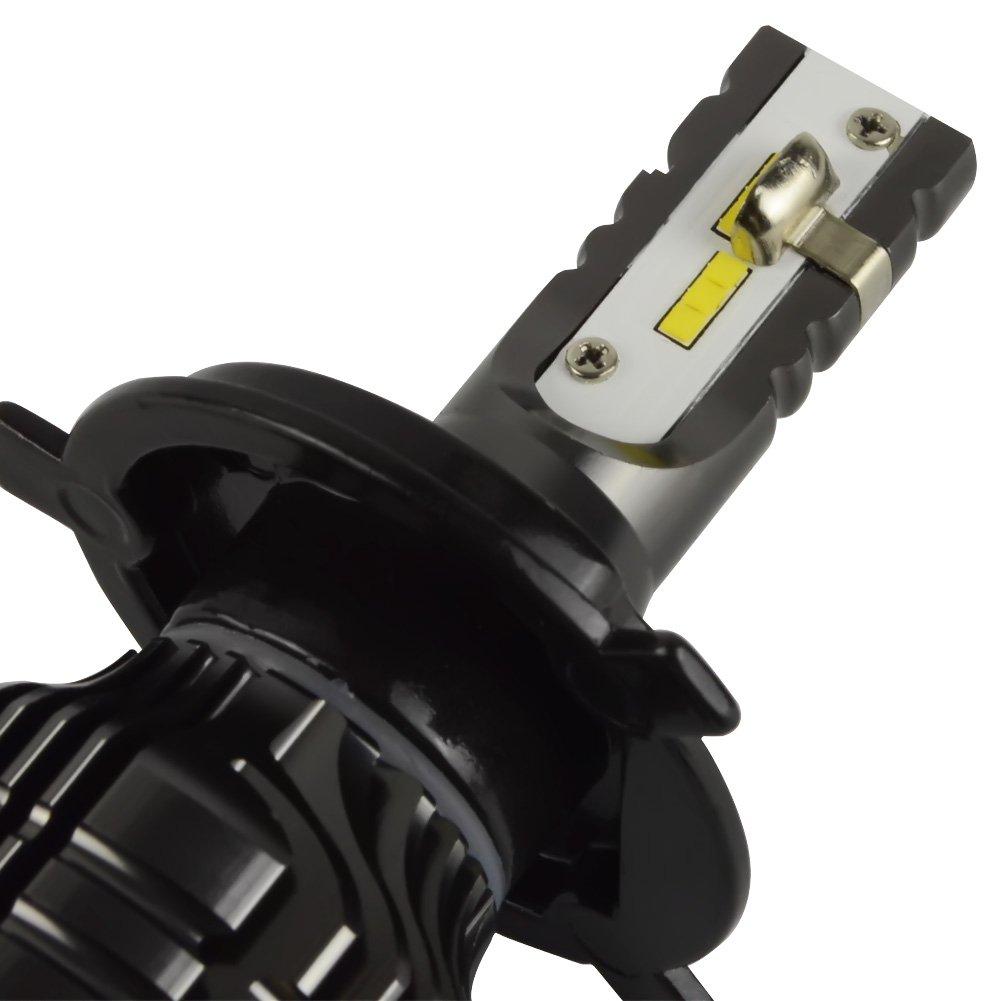 Safego H7 Faro Bulbi Auto LED Luci 40W 6000LM Super Luminosa Lampada con LED Chip per Auto//furgone//camion//veicolo Faro Della Luce Delle Lampadine dellautomobile Kit LED 6000K Bianco 12V Q5-H7
