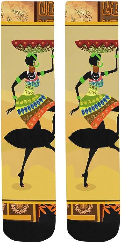 African Drawn Woman Portrait Crazy Dress trouser Sock For Men Women kid Outdoor