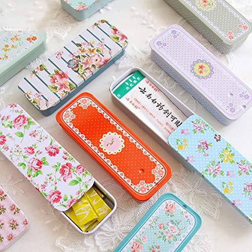 (Mini Rectangular Slide Cover Mini Iron Box Xylitol Storage Box Wedding Jewelry Pill Cases Portable Tin Boxs Container)
