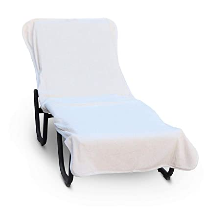 Pleasant Luxury Hotel Spa Towel Pool Chair Cover 100 Cotton Soft Ring Spun Cotton Standard Size White Ocoug Best Dining Table And Chair Ideas Images Ocougorg