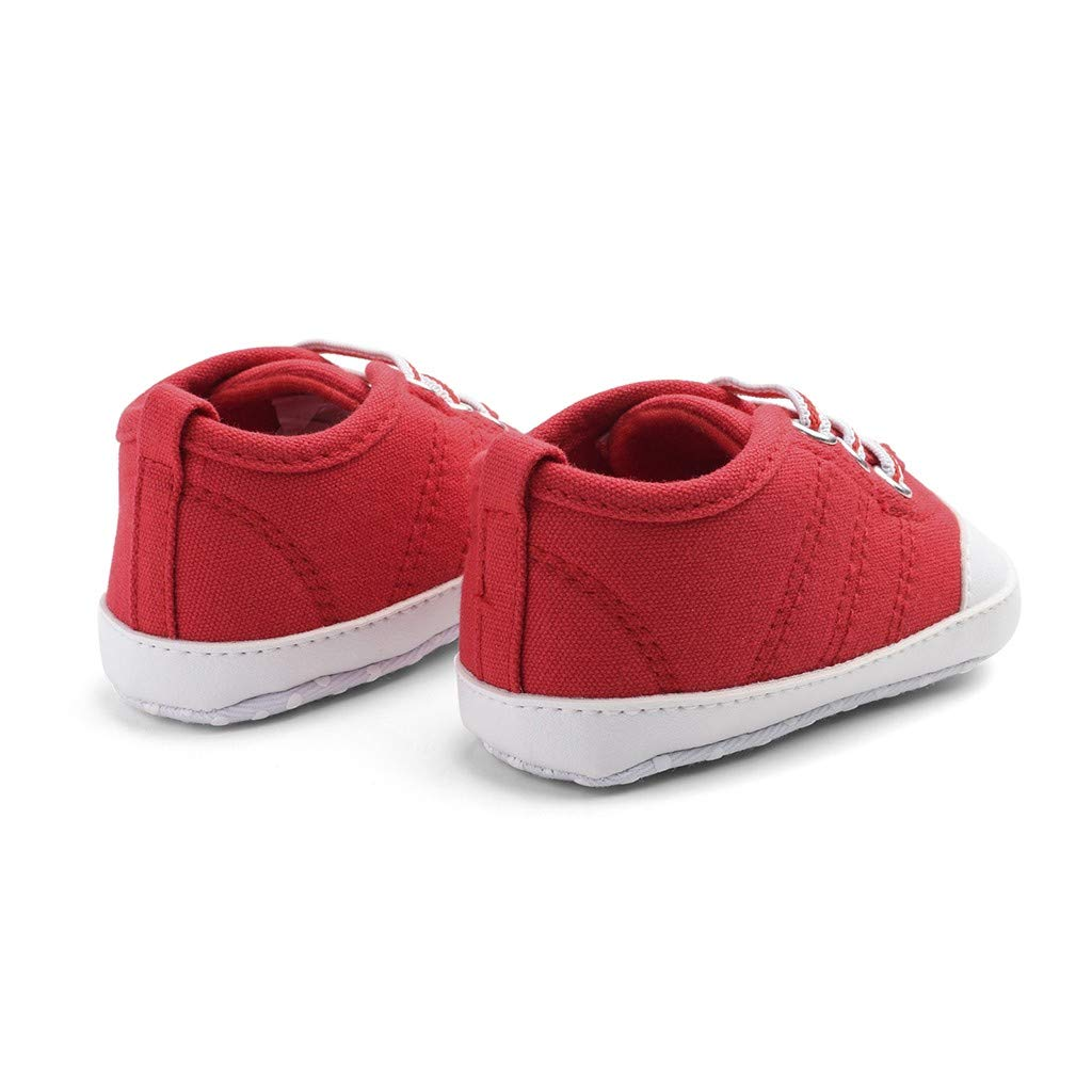 Riverdalin Baby Boys Girls Canvas Sneaker Soft Anti-Slip Sole Newborn Infant First Walkers Canvas Denim Shoes Crib Shoes