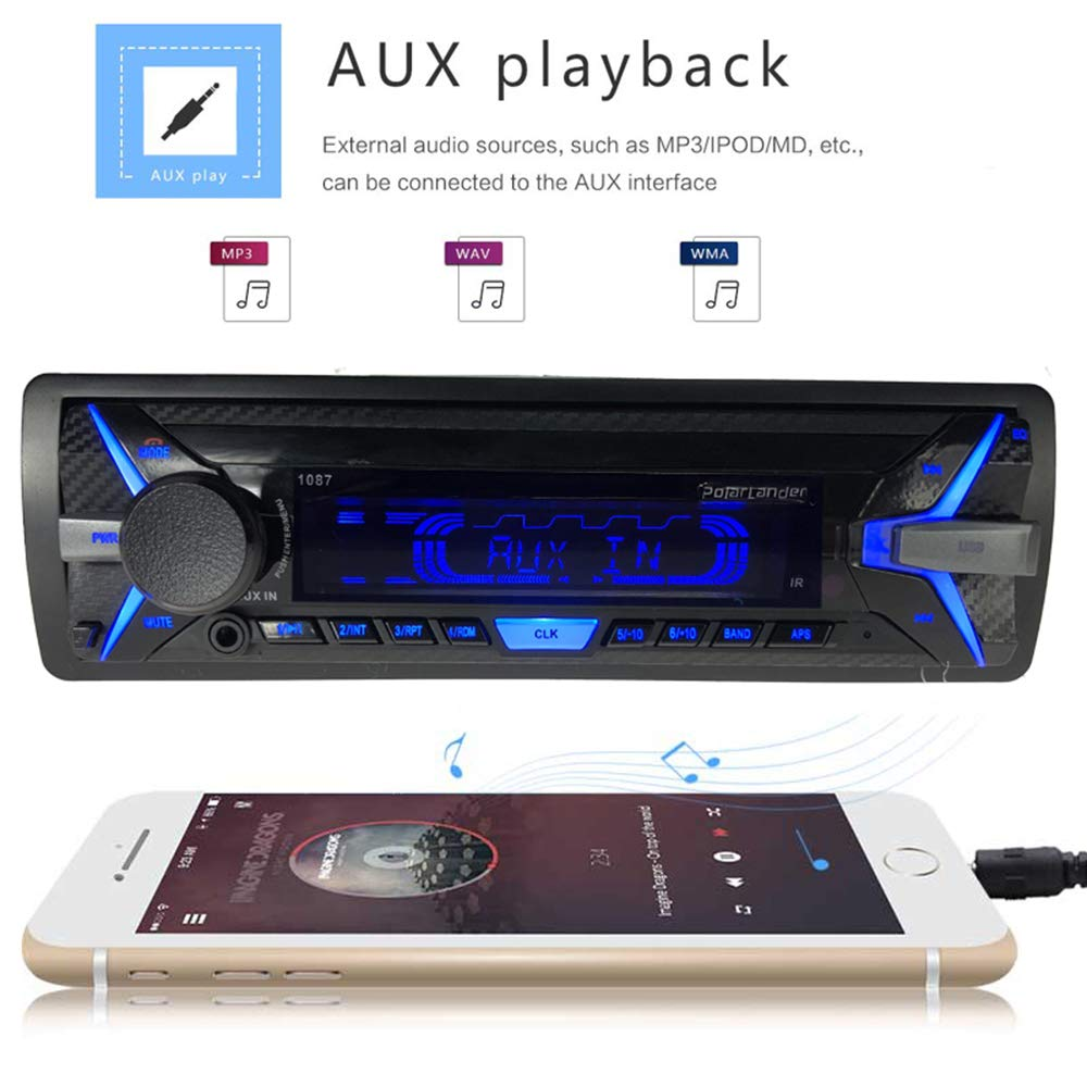 FM USB SD Digital Audio Broadcast 12V Car Bluetooth Audio Player BOOMBOOST 1 DIN Bluetooth DAB Car Radio Bl1 Din Car Radio RDS Bluetooth Hands-Free MP3//WMA DAB