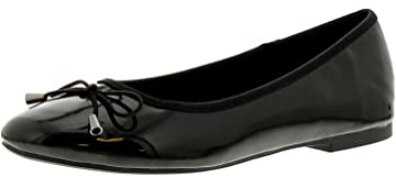 991b10f0a New Ladies/Womens Black Patent Flat Ballerina Shoes/Pumps - Black - UK Sizes