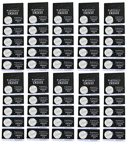 50 pcs Pack - CR2032 Battery 3v Lithium Button Cell Coin 2032 Battery Nightkonic