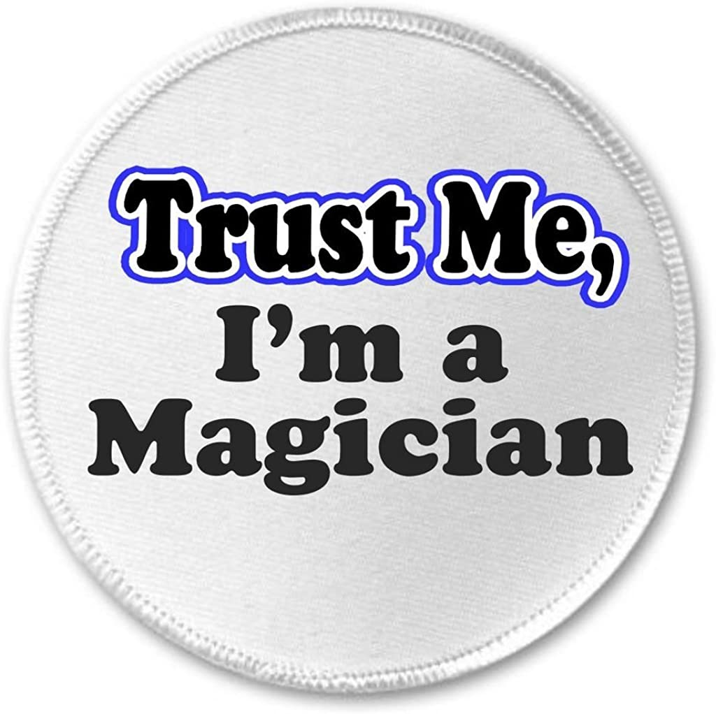 A/&T Designs Trust Me Im a Magician 3 Sew On Patch Magic Black Hat Bunny