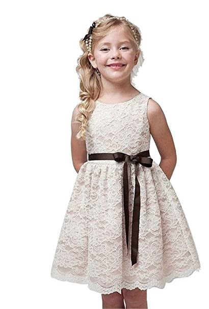 Chiffon Pleated Flower Girl Dress Wedding Easter Pageant Short Formal Bridesmaid