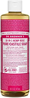 product image for Dr. Bronner's Organic Pure Castile Liquid Soap, Rose, 16 oz