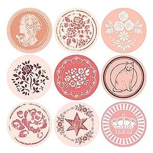 Random Color Sealing Paste Cookies Stamps Packaging Sticker Baking Decor 36 PCS