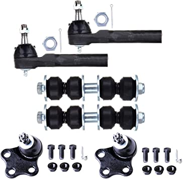 1997-2005 Cavalier Sunfire Lower Ball Joints Inner Outer Tie Rods Sway Bar Links