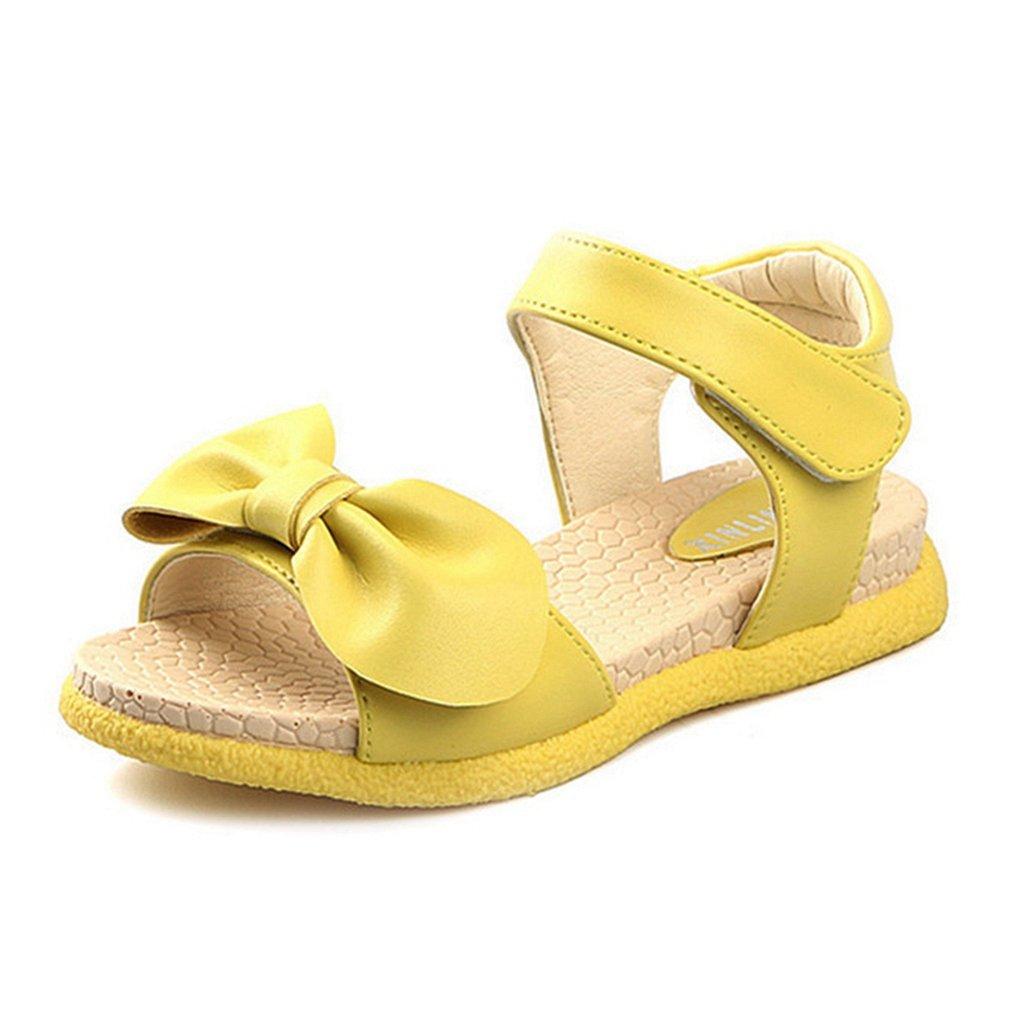 Cute Girls Sandals Soft Sole Summer Flat Bowknot Fashion Princess Shoes (Toddler/Little Kid)