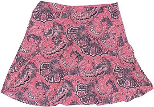 (Lauren Ralph Lauren Womens Plus Paisley Flare Skirt Pink 18W)