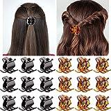18 Pieces Hair Claw Clips Medium Size Hair Claws 1.3 Inch Hair Jaw Clip Claw Clip Grip for Women Girls Medium or Thick Hair